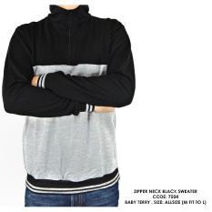 Ulasan Lengkap Paling Dicari Sweater Switer Polos Kombinasi Abu Cowok Pria Terlaris