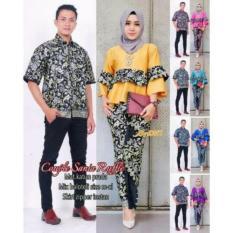 Paling murah Batik couple sania ruffle