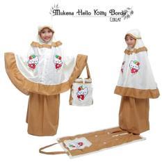 PALING MURAH Mukena Anak Hello Kitty Bordir Coklat Size S)