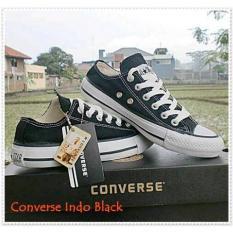 Paling Murah Sepatu Sekolah Converse Hitam Putih 24-45 Size + Box - Hfgaph