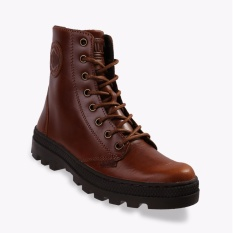 Palladium Pallabosse Off Lea Women's Boots Shoes - Cokelat
