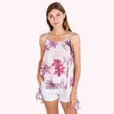 PALM TANK TOP CHIFFON FLOWER-5335040101010606501