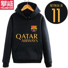 Pan Wei Dalam Baju Sepak Bola Musim Gugur atau Musim Dingin Berkerudung Kaos Sweater Pakaian Latihan (Hitam 5)