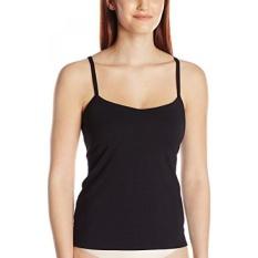 Panache Womens Cotton Lycra Camisole dengan Built In Bra, Hitam, 36FF-Intl