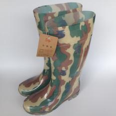 Pancing Ikan Modis Laki-laki Ukuran Panjang Kristal Sepatu Bot Hujan Sepatu Bot Hujan (Ukuran Panjang Kamuflase Sepatu (Kode Standar))