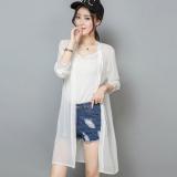 Harga Pantai Lengan Panjang Wanita Tipis Atasan Baju Pelindung Matahari Putih Original