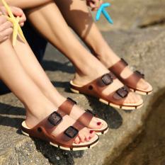 Jual Beberapa Sepatu Berlubang Pantai Untuk Non Slip Sendal Horizontal Coklat Gelap Sepatu Wanita Sandal Wanita Lengkap