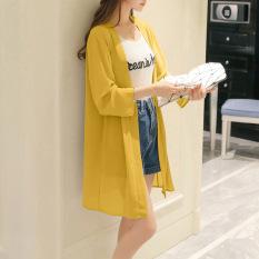 Rp 96.300 2019 model baru Sifon Baju pelindung matahari wanita model setengah panjang musim panas model tipis Selendang Jaket rumbai Pantai ...