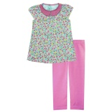 Spesifikasi Papeterie Baju Setelan Anak Perempuan Motif Bunga Kerah Peter Pan St 247 Multicolor Murah Berkualitas