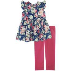 Diskon Papeterie Set Pakaian Anak Perempuan St 224 Floral Multicolor Branded