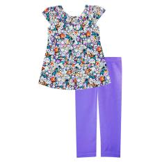 Jual Papeterie Setelan Baju Anak Perempuan Motif Bunga Ungu St 246 Ungu Papeterie Grosir