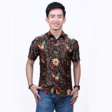 Jual Parama Kemeja Batik Pria Lengan Pendek Slimfit Clover Coklat Parama Batik Original