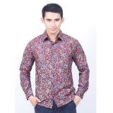Toko Parama Kemeja Batik Pria Lengan Panjang Slimfit Merlot Merah Lengkap Indonesia