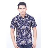 Jual Parama Kemeja Batik Pria Lengan Pendek Slimfit Opal Biru Parama Batik Original