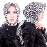 Promo Parisku Jilbab Hijab Segiempat Katun Square Monochrome Abstrack Parisku Terbaru