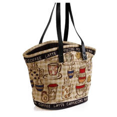 Park B. Smith Rustic Cafe Tapestry Tote Bag-Intl