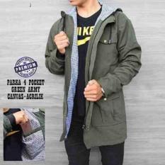Toko Parka Pocket Zipper Hijau Army Lengkap Dki Jakarta