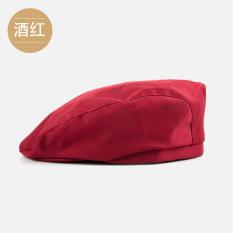 Topi Baret Koki Hotel Topi Kopi Restoran Makanan Barat (Anggur merah)
