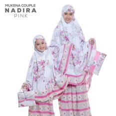 PasarbajuOlshop Couple Stelan Mukena Ibu& Anak Nadira Pink