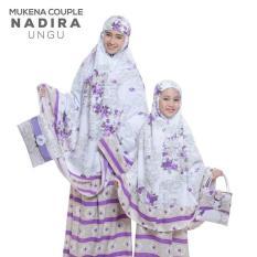 PasarbajuOlshop Couple Stelan Mukena Ibu& Anak Nadira Ungu