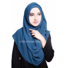 Pashmina Instant Aisyah - Denim Blue