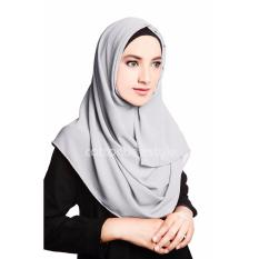 Pashmina Instant Aisyah - Light Grey
