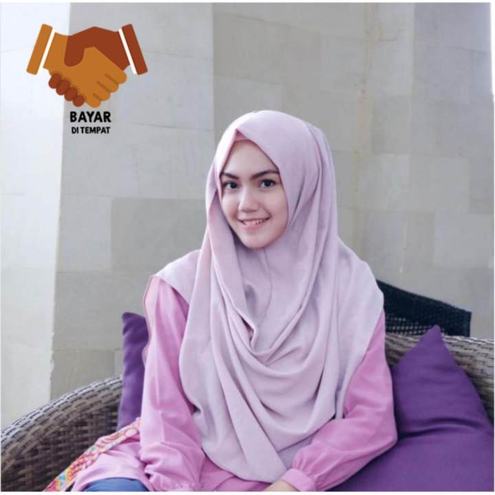 Pashmina Instan Raisa -Lavender / hijab instan / pashmina