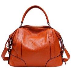 Pasta Womens Desain Sederhana Solf Kulit Lady Tote Bag Asli Kulit Sapi Online Women Handbags Beige DAF0YK (Warna: C2)-Intl