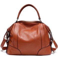Pasta Womens Desain Sederhana Solf Kulit Lady Tote Bag Asli Kulit Sapi Online Women Handbags Beige DAF0YK (Warna: C6)-Intl