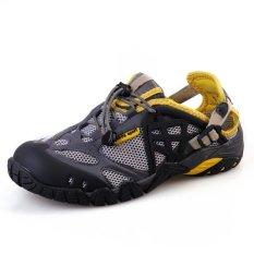 Harga Pathfidner Pria Sandal Trail Waterproof Hiking Shoes Cahaya Mountain Pendakian Sepatu Wading Abu Abu Intl Original