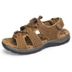 Toko Jual Pathfinder Pria Sepatu Pantai Outdoor Sporty Sandal Coklat Muda