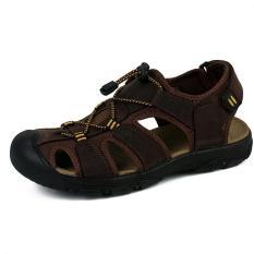 Diskon Pathfinder Pria Datar Kulit Sporty Sandal Sandal Sepatu Cokelat Kehitaman Intl Akhir Tahun
