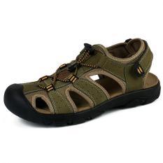 Spesifikasi Pathfinder Pria Datar Kulit Sporty Sandal Sandal Sepatu Hijau Intl Yang Bagus Dan Murah