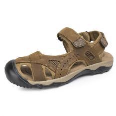 Jual Pathfinder Pria Datar Kulit Sporty Sandal Velcro Sandal Hiking Sepatu Brown Pathfinder Original