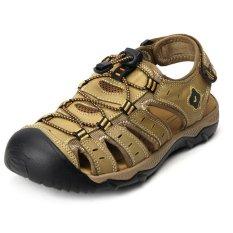Spesifikasi Pathfinder Pria Sandal Sandaran Fashion Milik Anak Leather Outdoor Shoes Khaki Intl Murah