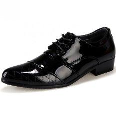 Review Pramuka Pria Sepatu Kulit Formal Gaun Pengantin Oxford Hitam Terbaru