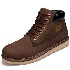 Spesifikasi Pathfinder Perkakas Sepatu Single Wild Fashion Pria Boots Brown Intl Murah Berkualitas
