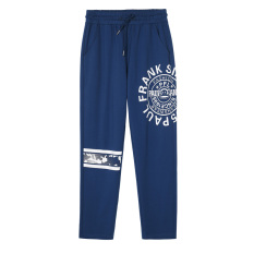 Paul Frank Baru Renda Dicetak Kasual Celana Mulut Monyet Celana Panjang (Biru Tua B5)