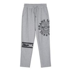 Paul Frank Baru Renda Dicetak Kasual Celana Mulut Monyet Celana Panjang (Abu-abu Terang A1)