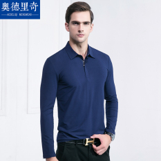 Polo Kaos Lengan Panjang Baju Atasan Pria Kain Katun Warna Polos