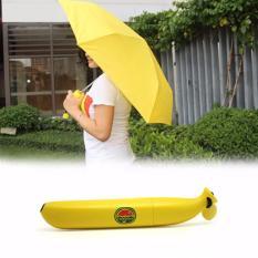 Toko Payung Lipat Pisang Banana Desain Lucu Unik Anti Basah Uv Protection Umbrella Cute Design Buah Botol Mini Kecil Fruits Anti Panas Mudah Disimpan Dibawa Clear Rain Bahan Poliester Kerangka Logam Kokoh Kuning Termurah