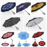 Harga Payung Lipat Terbalik Umbrella Cantik Biru Payung Terbalik Asli