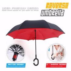 Beli Payung Terbalik Anti Basah Gagang C Unik Merah Kredit