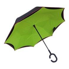 Payung Terbalik Anti Basah Unik Hijau Luar Hitam Payung Terbalik Diskon