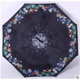 Jual Payung Terbalik Gagang C Reverse Umbrella Payung Lipat Mobil Hitam Bunga Burung Branded