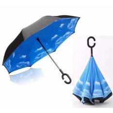 Diskon Payung Terbalik Kazberlla Gagang C Reverse Umbrella Payung Lipat Mobil Biru Langit