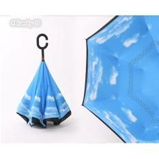Payung Terbalik Reverse Kazbrella Umbrella Gagang C Motif Acak