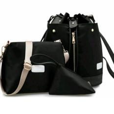 Harga Pbs Tas Wanita Sling Bag 3 In 1 Black Tas