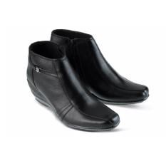 pdh boot wanita boot kulit wanita sepatu boot wedges kulit 7305GF