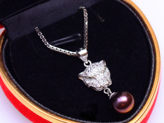 Jual Pearl Pearl Wgp 082 Kalung Mutiara Asli Black Pearl Pearl